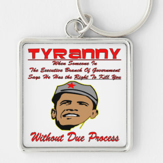 Tyranny When Fed-Gov Has The Right To Kill You Silver-Colored Square Key Ring
