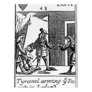 Tyrconnel Arming the Papists in Ireland Postcard