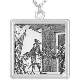 Tyrconnel Arming the Papists in Ireland Silver Plated Necklace