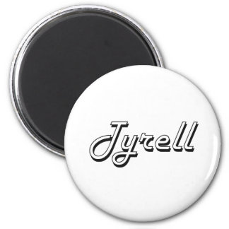 Tyrell Classic Retro Name Design 6 Cm Round Magnet