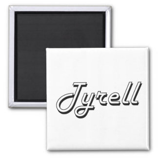 Tyrell Classic Retro Name Design 2 Inch Square Magnet