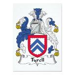 "Tyrell Family Crest 5"" X 7"" Invitation Card"