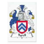 Tyrell Family Crest 5x7 Paper Invitation Card