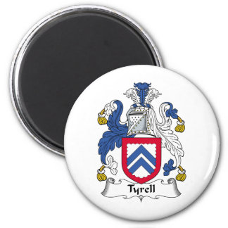 Tyrell Family Crest 6 Cm Round Magnet