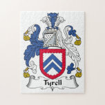 Tyrell Family Crest Jigsaw Puzzle