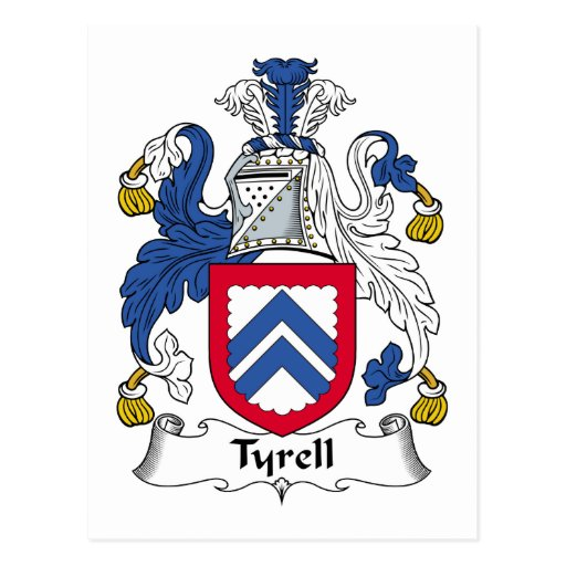 Tyrell Family Crest Postcard