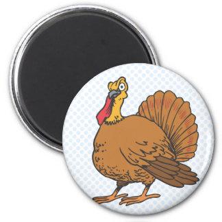 Tyrell Turkey 6 Cm Round Magnet
