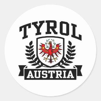 Tyrol Austria Classic Round Sticker