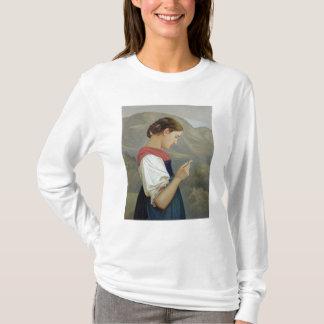 Tyrolean Girl Contemplating a Crucifix, 1865 T-Shirt