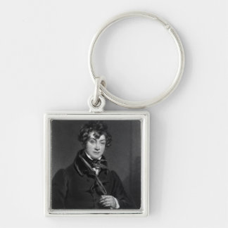 Tyrone Power, engraved by James Sands, c.1833 Silver-Colored Square Key Ring