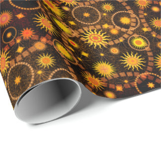 Tysonia Suns Sangria Wrapping Paper