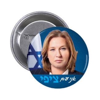 Tzipi Livni Israeli politics election pin