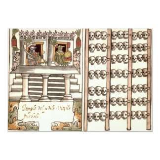 Tzompantli Skull Rack Aztec Temple 13 Cm X 18 Cm Invitation Card