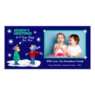 U1 Blue Christmas Xmas Photo Cards