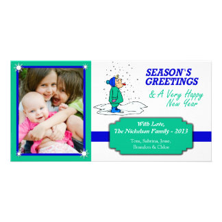 U2 CatchSnow White kids fun Christmas Photo Card