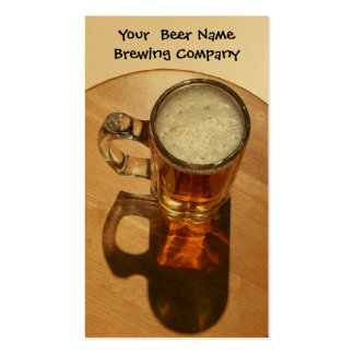 U-Brew Beer in Mug Double-Sided Standard Business Cards (Pack Of 100)