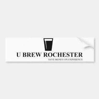U Brew Rochester Bumber Sticker Bumper Sticker