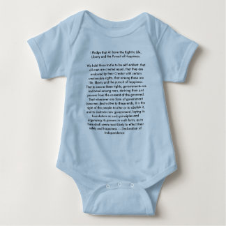 !!! U Create Declaration of Independence Baby Bodysuit