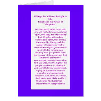 !!! U Create Declaration of Independence Cards