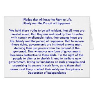 !!! U Create Declaration of Independence Greeting Card