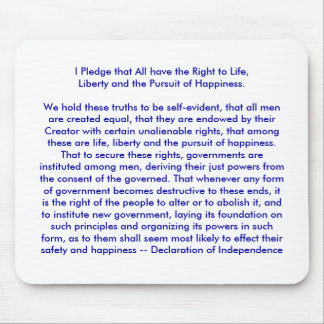 !!! U Create Declaration of Independence Mouse Pad
