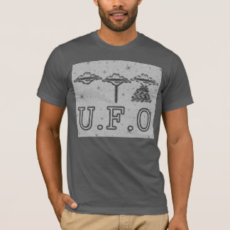 U.F.O 3 Saucers Grey/White T-Shirt