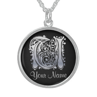 U Initial with Your Name Necklace Custom Jewelry