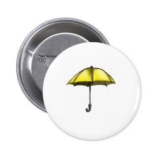 U is for Umbrella 6 Cm Round Badge