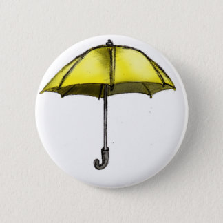 U is for Umbrella 6 Cm Round Badge
