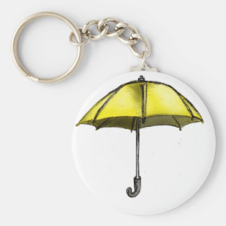 U is for Umbrella Basic Round Button Key Ring