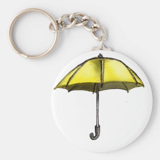 U is for Umbrella Basic Round Button Key