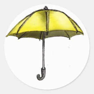 U is for Umbrella Classic Round Sticker