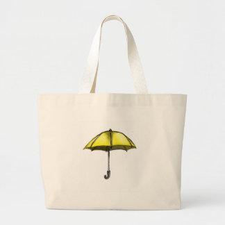 U is for Umbrella Jumbo Tote Bag