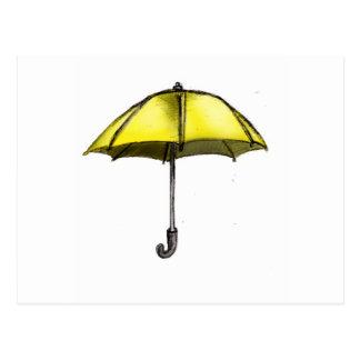 U is for Umbrella Postcard