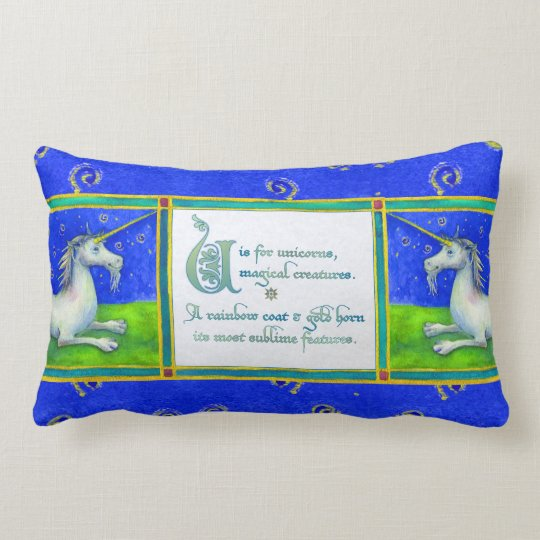 U is for Unicorn Pillow II