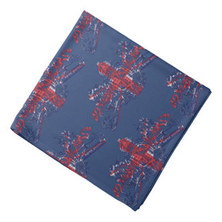 U.J. British Coat of Arms Blue Lapel Pocket Bandana