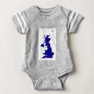 U.K. and Northern Ireland Silhouette Baby Bodysuit