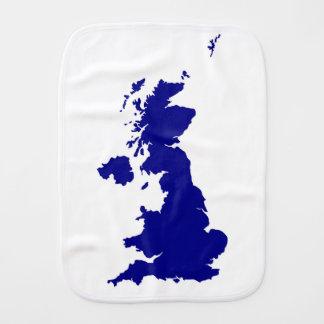 U.K. and Northern Ireland Silhouette Burp Cloth
