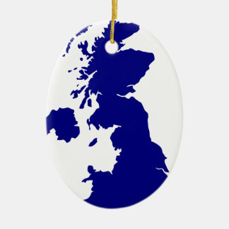 U.K. and Northern Ireland Silhouette Christmas Ornament