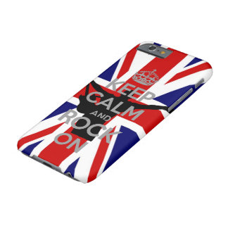 U.K Flag Keep calm and Rock on Very Cool Barely There iPhone 6 Case