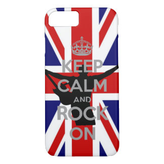 U.K Flag Keep calm and Rock on Very Cool iPhone 7 Case