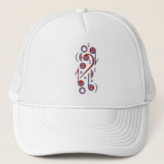 U.K. Flag Musical Notes Trucker Hat