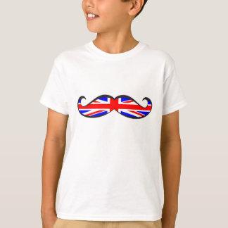 U.K. Flag Mustache T Shirt