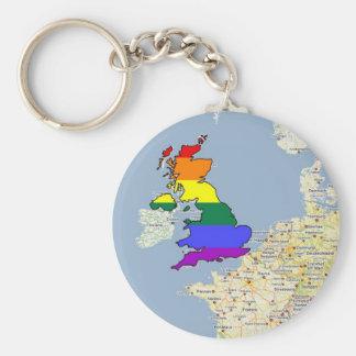 U.K. GLBT Pride Keychain