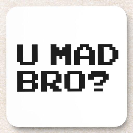U MAD BRO? - internet/meme/irc/chat/4chan/troll Beverage Coaster