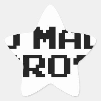 U MAD BRO? - internet/meme/irc/chat/4chan/troll Star Stickers