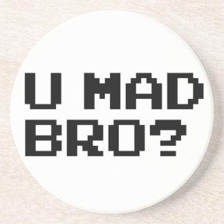 U MAD BRO? meme/chat/irc/4chan/troll/trolling Drink Coaster
