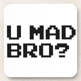 U MAD BRO meme chat irc 4chan troll trolling Drink Coaster