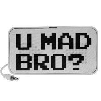 U MAD BRO? meme/chat/irc/4chan/troll/trolling Mini Speakers