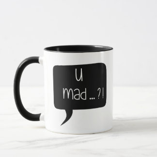 U Mad…?! - Funny Quote Combo Mug